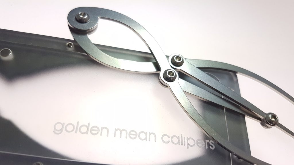 Small Golden Mean Calipers with Acrylic and Hardboard case