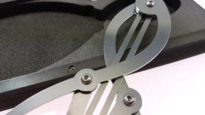 Bisecting Calipers  in Hardboard case - closeup