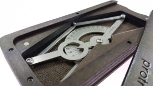 Protractor -  hardboard case